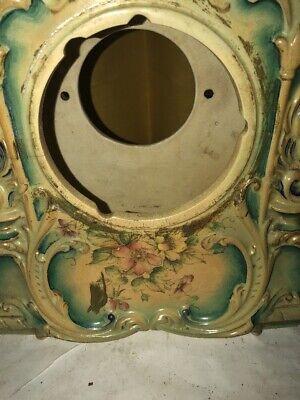 Vintage Porcelain Floral Mantle Clock Shell 3