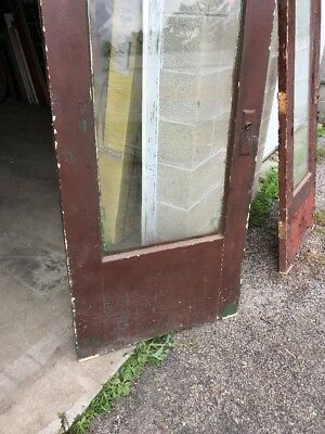 Mar212 Antique Beveled Glass Full View Entrance Door 32 X 80