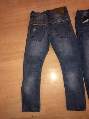 Two pairs of Boys Zara adjustable waist Jeans Aged 5-6 Years 6