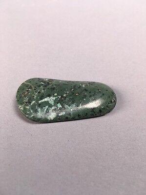 Precolumbian Blue Jade Pendant Bead Speckled Duck Bill Shape 7