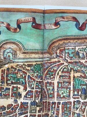 Old Antique Historic Map Augsburg Germany: 1563 Braun & Hogenberg REPRINT 1500's 4