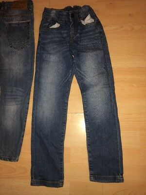 Two pairs of Boys Zara adjustable waist Jeans Aged 5-6 Years 9