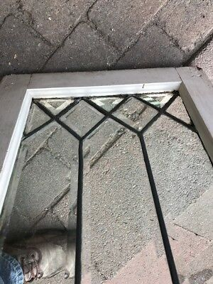 Sg 1701 Antique All Beveled Glass Transom Window 15 And FiveEights By 25
