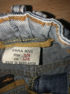 Two pairs of Boys Zara adjustable waist Jeans Aged 5-6 Years 5