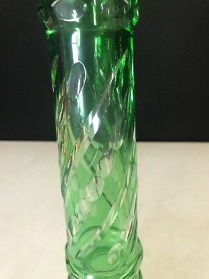 Lamp Stem Cut to Clear Part Oil Electric Bohemian Green 3