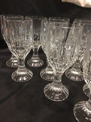 Crystal Wine Water Goblets Trevi Pattern Home Essentials Beautiful (12) 5