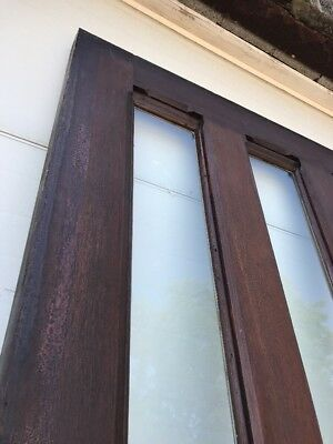 MAR246 antique walnut entrance door 42 x 111 x 2.25