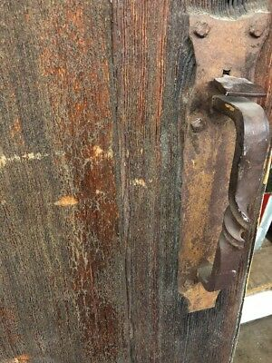"Ols Spanish Mexico Wood Door With Hardware 77x36"""