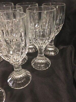 Crystal Wine Water Goblets Trevi Pattern Home Essentials Beautiful (12) 3