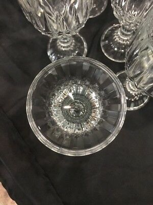 Crystal Wine Water Goblets Trevi Pattern Home Essentials Beautiful (12) 9