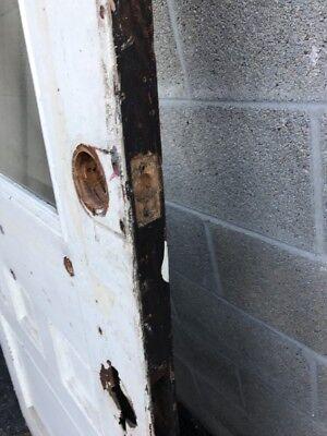 Cm 228 Antique Oak Beveled Glass Farmhouse Door 35.75 X83.5