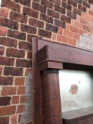 R 5 Antique Quartersawn Oak Fireplace Mantle Beveled Mirror 5' X 90.25