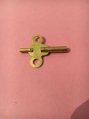 American /French Clocks Double End Brass Keys  No 4= 3.25 Small End 1.95Mm 2
