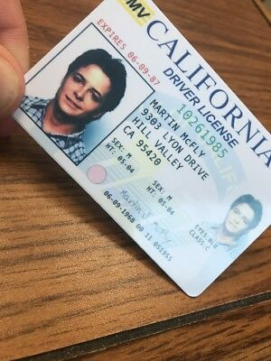 Back to the Future - Fake Drivers License Prop Marty McFly Novelty HIGH QUALITY 3