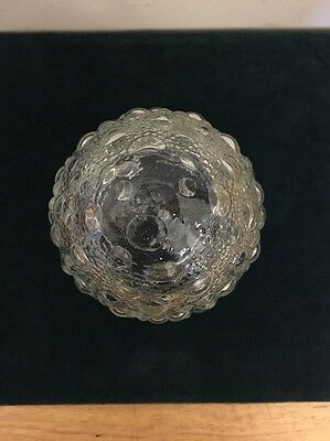 Vintage Clear Textured Glass Globe Light Fixture Cover Tear Drop 5