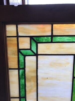 Sg 1914 Antique Stainglass Transom Window 22.75 X 36