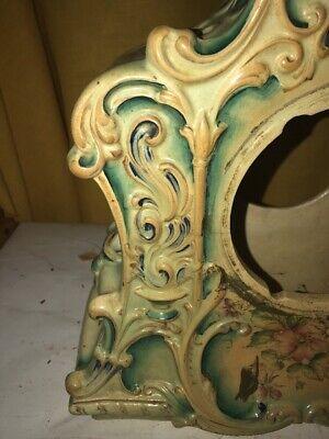 Vintage Porcelain Floral Mantle Clock Shell 2