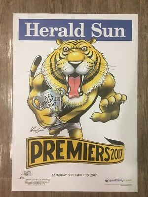 2017 Richmond Tigers Premiers Posters WEG KNIGHT