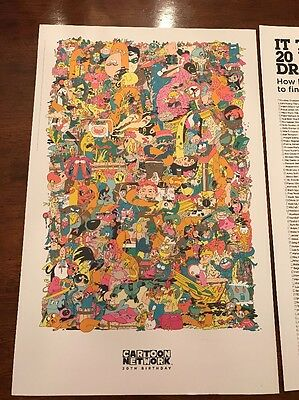 CARTOON NETWORK 20TH BIRTHDAY sdcc  Exclusive Poster 2