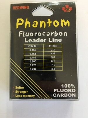 Redwing Phantom Fluorocarbon 5.6lb test 50m  $2.50 US Combined Shipping