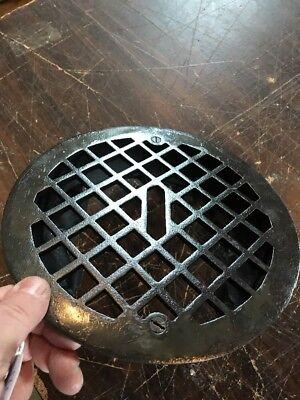 T 13 Antique Round Heating Grate No Fins 9 3/8 2