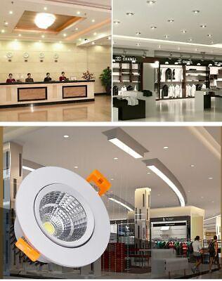 3W 5W 7W 9W 12W 15W 20W COB LED Recessed Ceiling Downlight Spot Light Bulb Kits 11