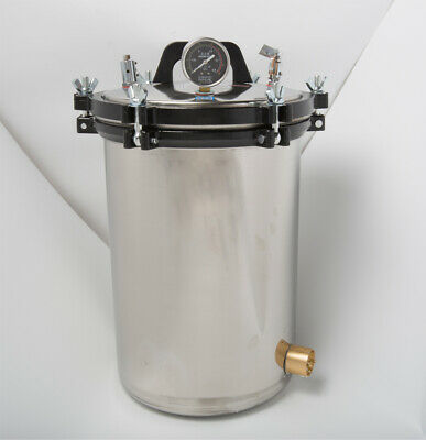 8/12/18/24L 304 Stainless Autoclave Steam Sterilizer Dental Medical Equipment 8