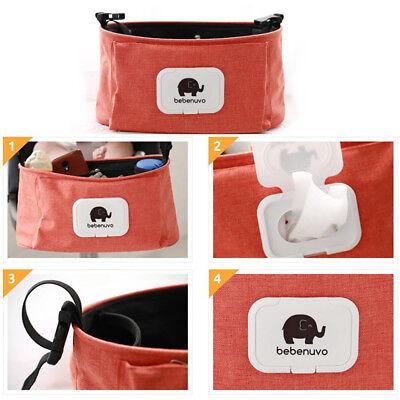 Stroller Pram Pushchair Baby Organiser Mummy Bag Storage Buggy Cup Bottle Holder 6