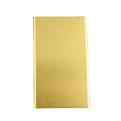 Elegant Cigarette Case S6 Thin Slim Wiredrawing Box Gold 20 Aluminum Holder 3