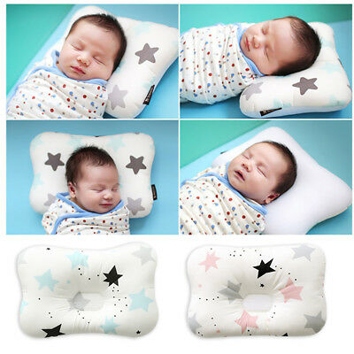 Baby Infant Newborn Prevent Flat Head Neck Syndrome Support Square Pillow 8
