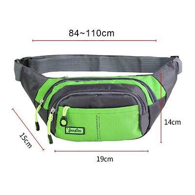 Bum Waist Bag Handy Belt Climbing Hiking Sport Unisex Fanny Pack Zip Pouch 9