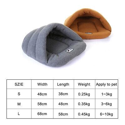 Pet Dog Cave Pad Sleeping Bag Bed Mat Warm Puppy Nest House Soft Cat 9