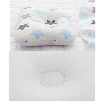 Baby Infant Newborn Prevent Flat Head Neck Syndrome Support Square Pillow 5