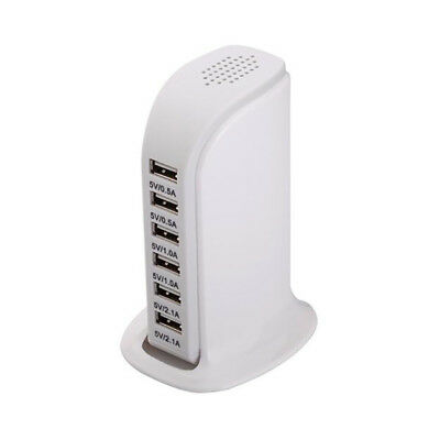 Charging Station USB Desktop Charger Rapid Tower Power Adapter Multi-interface 10
