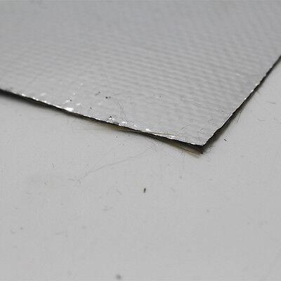 ALUMINIZED TITANIUM HEAT Shield Aluminized Basalt Fiber Cloth 0 6m X0 6m  Tape