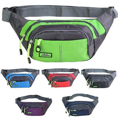 Bum Waist Bag Handy Belt Climbing Hiking Sport Unisex Fanny Pack Zip Pouch 2