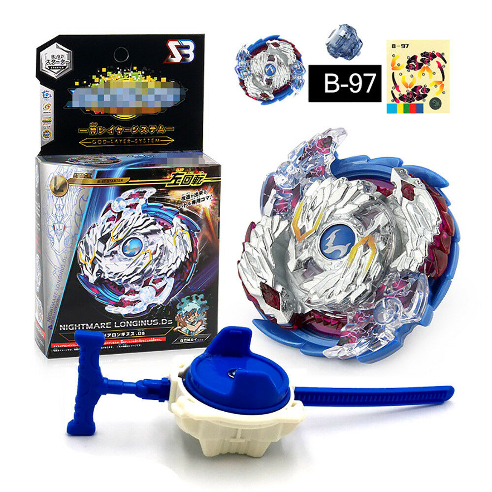 Fusion Rare Beyblade Set Metal Fight Master 4D Top Rapidity With Launcher Grip 5