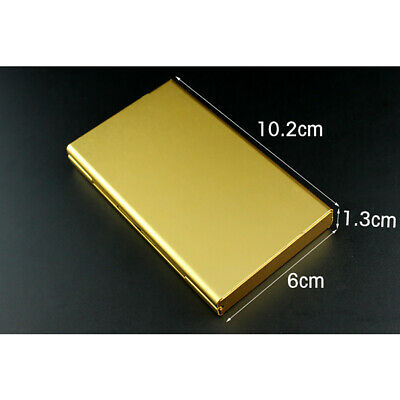 Elegant Cigarette Case S6 Thin Slim Wiredrawing Box Gold 20 Aluminum Holder 12
