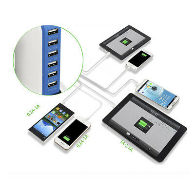 Charging Station USB Desktop Charger Rapid Tower Power Adapter Multi-interface 6