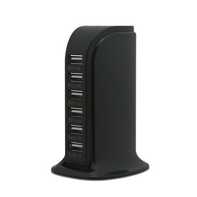 Charging Station USB Desktop Charger Rapid Tower Power Adapter Multi-interface 9