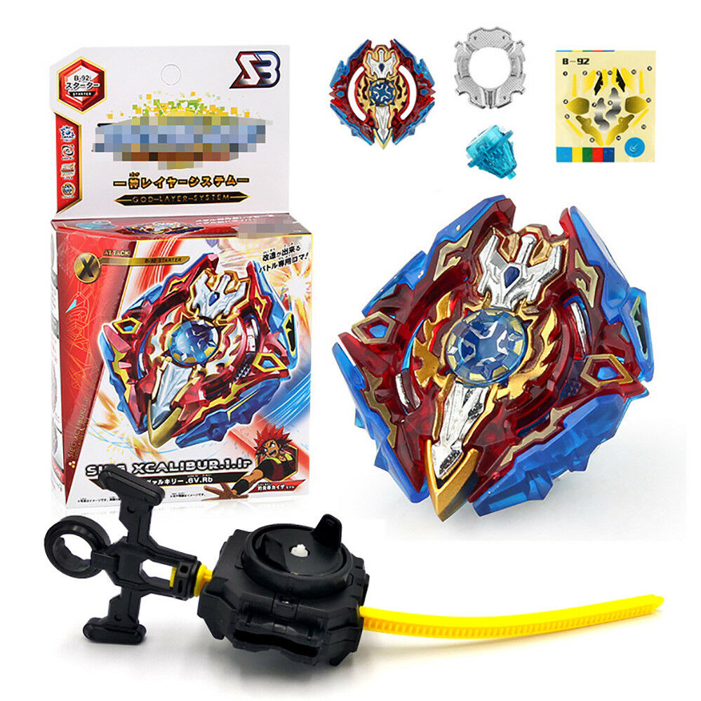 Fusion Rare Beyblade Set Metal Fight Master 4D Top Rapidity With Launcher Grip 4