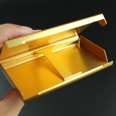 Elegant Cigarette Case S6 Thin Slim Wiredrawing Box Gold 20 Aluminum Holder 4