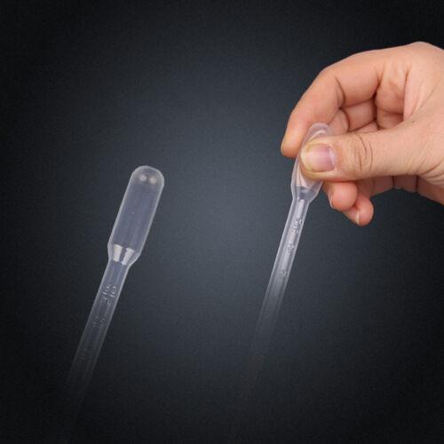 100 X 3ml Graduated Transfer Pipettes Plastic Pasteur Disposable Dropper 6