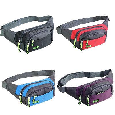 Bum Waist Bag Handy Belt Climbing Hiking Sport Unisex Fanny Pack Zip Pouch 4