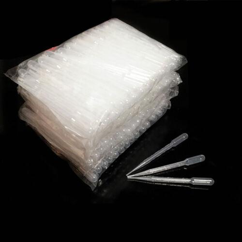 100 X 3ml Graduated Transfer Pipettes Plastic Pasteur Disposable Dropper 2