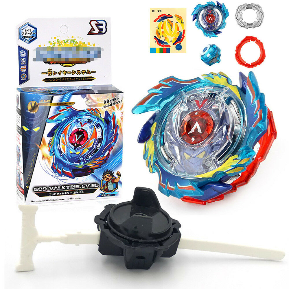 Fusion Rare Beyblade Set Metal Fight Master 4D Top Rapidity With Launcher Grip 2