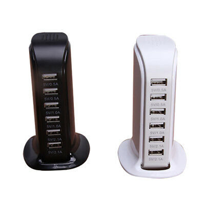 Charging Station USB Desktop Charger Rapid Tower Power Adapter Multi-interface 2