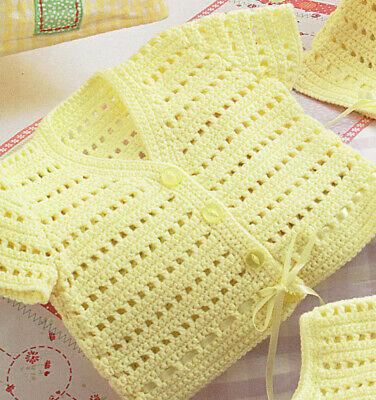 6sizes prem-12M Baby Boy//Girl Waistcoat//Sleeveless Tops PO373 Crochet Pattern