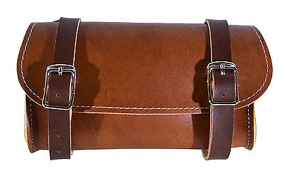 BIKE BLACK SADDLE BAG VINTAGE SEAT PACK TAIL STRAP CITY ROAD CYCLE SYNT LEATHER