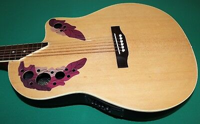 "Chitarra Eq New Orleans Natural Matt No Ovation Style Eq4B 40"" Custodia Omaggio 8"